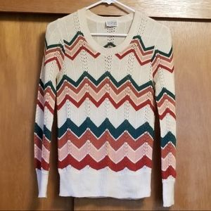 Vintage Chevron Stripe Sweater